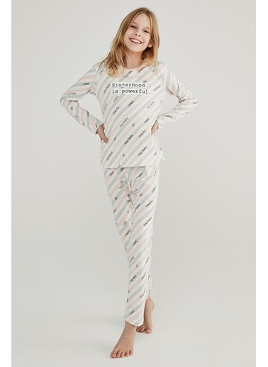 Penti Kız Çocuk Çok Renkli Teen Sısterhood 2'li Pijama Takım PNKHVG6720SK Renkli